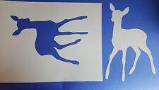 Schablone 293 Bambi  Wandtattoo Stencil Leinwand Textilgestaltung Airbrush Wald
