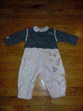 d982ff1c65384 BOUTIQUE EURO CATIMINI ATELIER 12M 74 Pants shirt GORGEOUS GRAY PINK One  piece