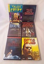 HORROR 6 DVD Lot! Tales From the Crypt Darkside Puppet Master Romero Zombie 80's