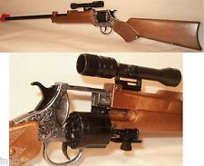 NEW Cap Gun Rifle with Scope Fires 12 Shot Ring Caps Made in Italy  20004