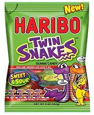 Haribo Twin Snakes Gummi Candy - TWO PACK - 5oz Bags Sweet n' Sour FREE SHIPPING