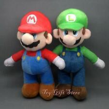 2 Stück / Set New Super Mario Bros. Ständer LUIGI & MARIO Plüsch-Puppe Stofftier