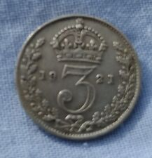 SOLID SILVER 3d 1921 Coin Republic of Ireland Independence Irish Free State Eire
