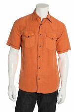 Ryan Michael Orange Western Shirt S $54