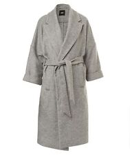 BNWT SPORTSGIRL Wool Blend Longline Wrap Coat in Grey |Size 10| RRP $199.95
