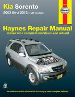 Kia Sorento all models (2003-2013) Haynes Repair Manual (USA)