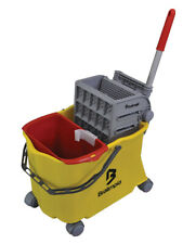 32Qt Mop Bucket with Wringer Combo Commercial Rolling Cleaning Cart