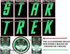 Star Trek 25th Anniversary DATA EAST Pinball Target Cushion Decals