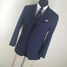 "RAFFAELE CARUSO Super 120""s  Blue Stripe  Sport Coat 2 Btn Side Vents   38 Reg"