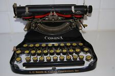 ANTIQUE 1929 PORTABLE FOLDING TYPEWRITER MODEL 3 SERIAL # 641312 ORIGINAL CASE