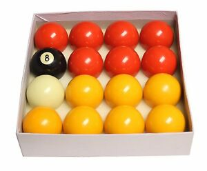 Strikeworth Competition 2-inch Red & Yellow Pool Ball Set