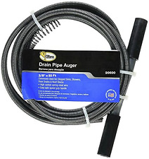 Drain Auger Cable Plumbing Replacement Cleaner 50 Ft 3/8 Snake Clog Pipe Sewer