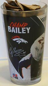 "2019 Champ Bailey Hall of Fame 6"" Pint Glass Football HOF Denver Broncos NFL"