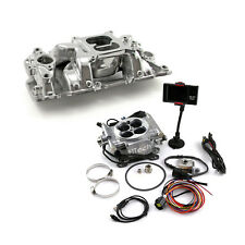 Chevy SBC 350 Eliminator 1957-95 Manifold & FiTech Go EFI 30001 Fuel Injection