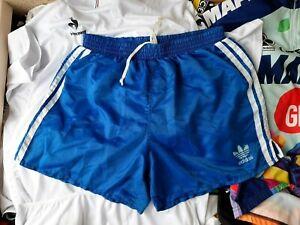 Adidas Shorts West Germany Size M Blue Run Shorts Vintage 1980/1985