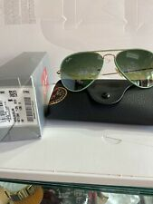 Ray Ban RB 3025 JM 001/3M Green gold/ Grey Gradient New Aviator Authentic