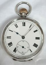 Swiss Gents Silver Pocket watch 15J *(FULL WORKING ORDER)* High Grade ! *1800s*