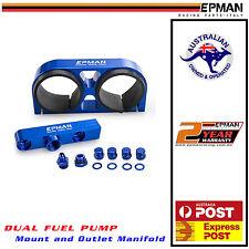 EPMAN DUAL Fuel Pump Mount + AN6 Outlet Manifold  For Twin Bosch 044 Black
