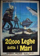 manifesto 4FG 20000 LEGHE SOTTO I MARI KIRK DOUGLAS  MASON WALT DISNEY VERNE