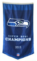 Seattle Seahawks 2013 Super bowl Champions  Flag Banner Man Cave 30x50Inch