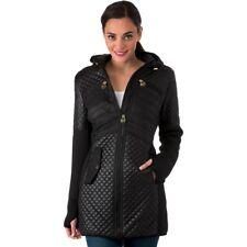 Michael Kors Down Puffer Hooded Jacket Bubble Parka Black Gold Hip Length L