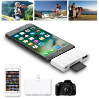 TF SD Card Reader For iPad iPhone X XS MAX XR 5 6 7 8 USB OTG Adapter Camera Kit
