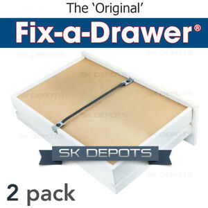 Fix A Drawer® - 2 Pack - Stop drawer bottoms from drooping & collapsing!