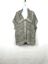 ST. John Knitted Snap Button Sleeveless Shrug Sweater Size XL