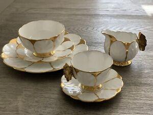 Rare Aynsley Gold Butterfly Tea Set Art Deco