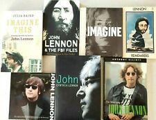 JOHN LENNON 7 X  BOOKS IMAGINE,THE FBI FILES,REMEMBERS LENNON