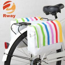 Bunt gestreifte Gepäckträger Fahrrad Tasche Damen Mädchen Beachcruiser Cityrad