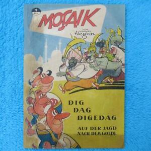 "MOSAIK Digedags Nr 1 KÖNIGSHEFT ""Die Jagd nach dem Golde"" Hannes Hegen DDR 1955"