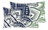 2 PC Neuf Ombre Mandala Housse Oreiller Coton Décor Indien Coussin Ethnique Art