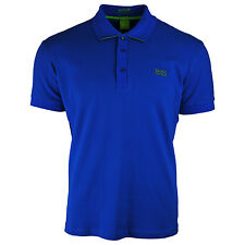 Hugo Boss Slim Fit Moisture Manager Stretch Cotton Blend Blue Polo Shirt