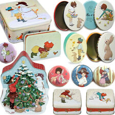 More details for belle & boo tin box bunny christmas easter girl accessory storage trinket gift