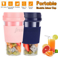 300ml Portable Electric Juicer Cup USB Rechargeable Fruit Maker Blender
