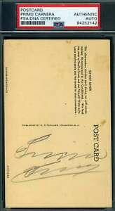 Primo Carnera PSA DNA Coa Hand Signed 1930`s Postcard Autograph