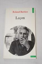 LECON-ROLAND BARTHES-SEUIIL POINTS 1989-FORMAT LIVRE DE POCHE