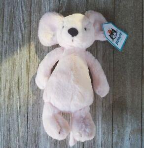 NWT Jellycat London Bashful Mouse SMALL Pale Pink Baby Soft Plush Rare Mini