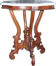 Solid Mahogany Victorian Side Table with marble top Antique Repro NEW T018