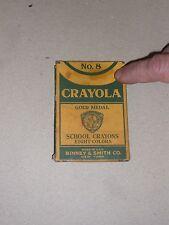 Vintage Crayola Eight Color School Crayons Gold Medal