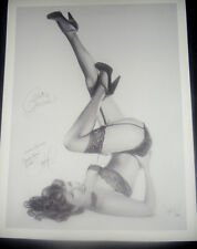 Jon Hul Claire Sinclair Crazy Horse Diva (B&W) Signed Giclee 18 x 24 2/95