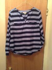 New York & Co. Women's Blouse size M ( blue striped)