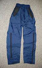 Womens Mens NYLON RAIN PANTS 24-32 inch Waist DARK BLUE French Military Issued