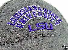 LSU Tigers - Authentic Baseball Hat by Nike - Gray/Purple size Adjustable Fit