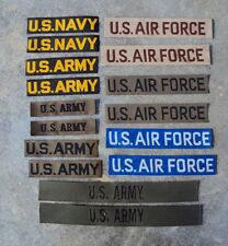 1950's to Vietnam War US Army Navy Air Force Pair of Patches / Badges / Tapes