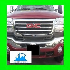 2003-2007 GMC SIERRA CHROME TRIM FOR GRILLE GRILLE 2004 2005 2006 03 04 05 06 07