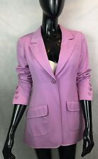 100% Authentic Chanel All Wool Pink Bazer Jacket with CC Buttons Vintage LOVELY