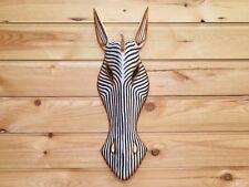 BOXED item animal mask wall art wooden ZEBRA mask 100cm LARGE 1 meter