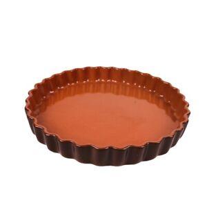 Emile Henry Ceramic Fluted Pie Quiche Flan Tart Baking Dish - Brick Red